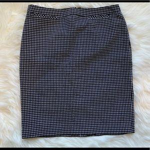 Halogen Black & White Print Pencil Skirt, 8